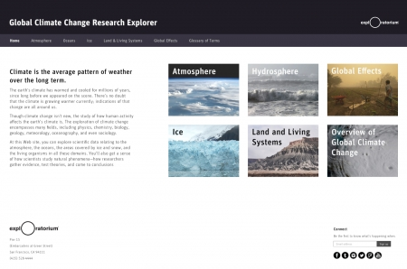 Exploratorium Global Climate Change Explorer